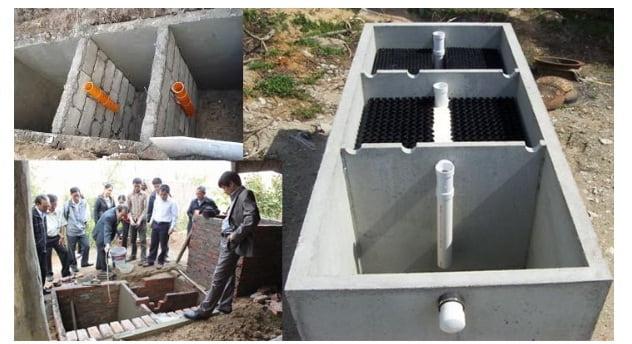 bể tự hoại 3 ngăn làm bằng bê tông