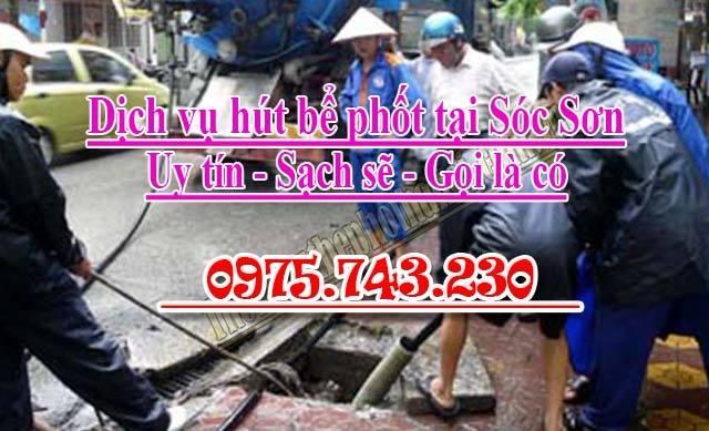 hút bể phốt tại Sóc Sơn, Hà Nội: