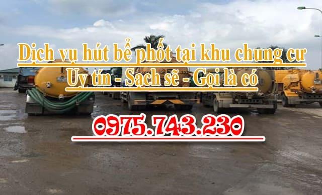 Hút bể phốt chung cư uy tín giá rẻ LH 0975743230