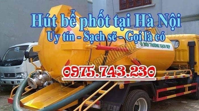 Hút bể phốt Hà Nội uy tín giá bình dân