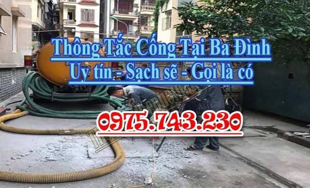 Dịch vụ thông hút bể phốt tại Quận Ba Đình