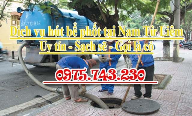 Dịch vụ hút bể phốt tại Nam Từ Liêm