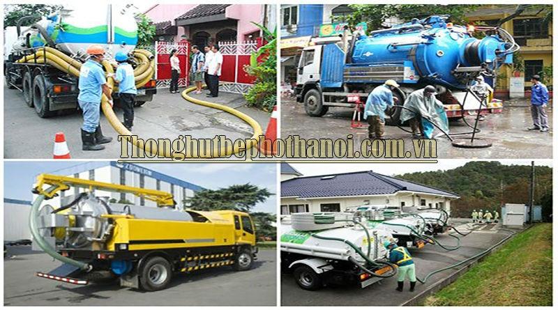 Dịch vụ hút bể phốt tại  Hà Nội: