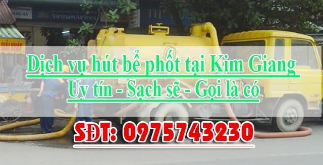 Hút bể phốt tại Kim Giang giá rẻ uy tín sạch sẽ LH 0975743230