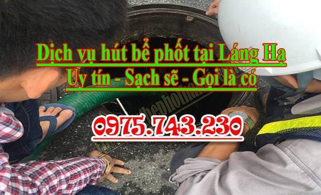 dịch vụ thông hút bể phốt tại Láng Hạ