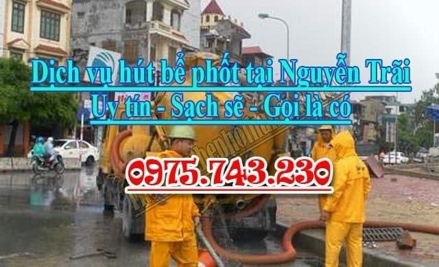 Dịch vụ hút bể phốt tại Nguyễn Trãi