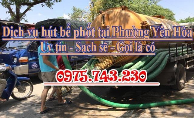 Dịch vụ hút bể phốt tại phường Yên Hòa