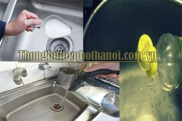cách thông tắc chậu rửa bát đơn giản