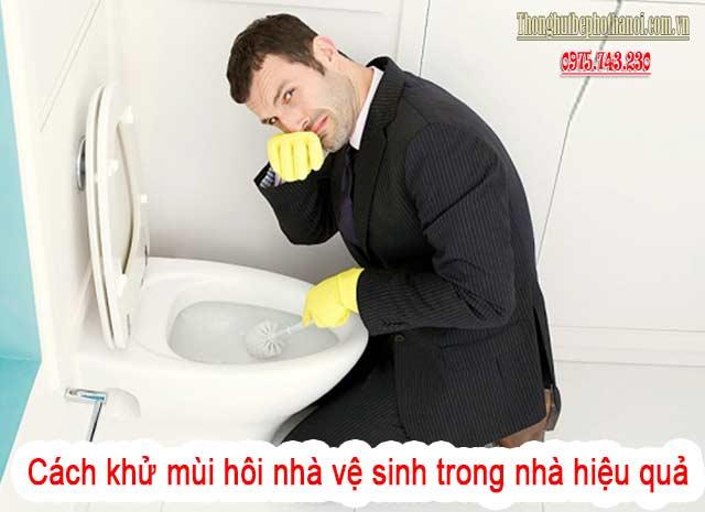 Cách khử mùi hôi nhà vệ sinh do bồn cầu gây ra: