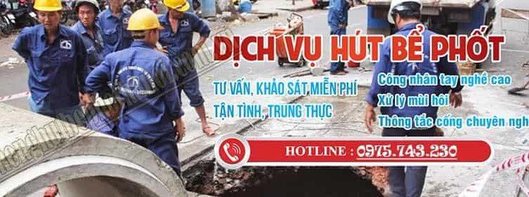 Dịch vụ thông tăc hút bể phốt tại Hà Nội uy tín làm thật ăn thật