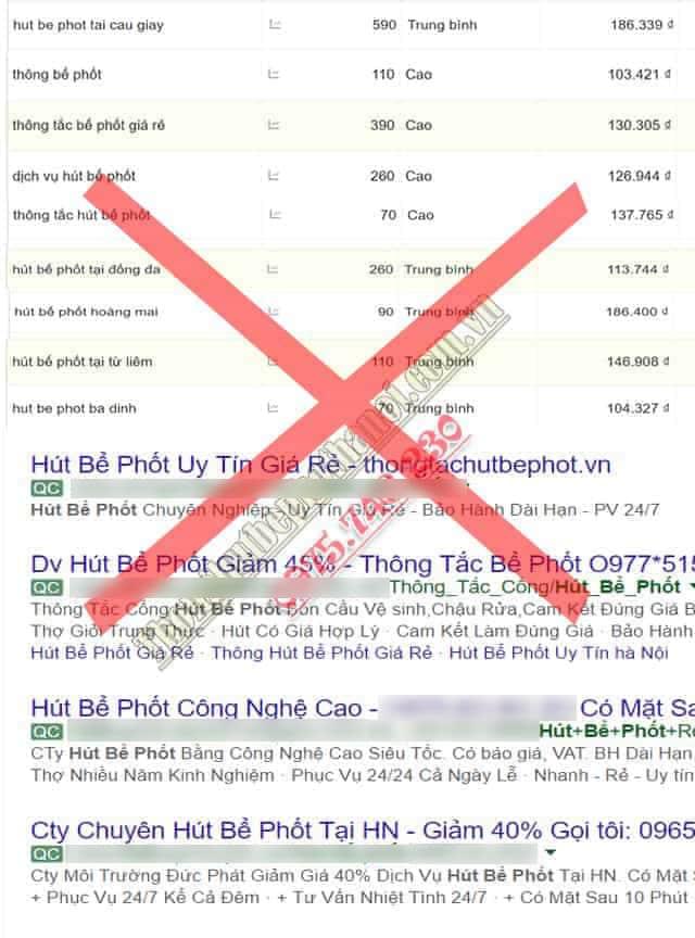 Dịch vụ thông tắc hút bể phốt tại Hà Nội uy tín làm thật ăn thật