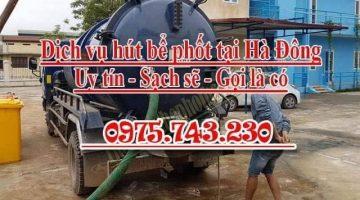 Hút bể phốt tại Hà Đông uy tín giá rẻ