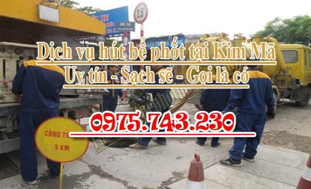 Hút bể phốt tại Kim Mã uy tín giá rẻ