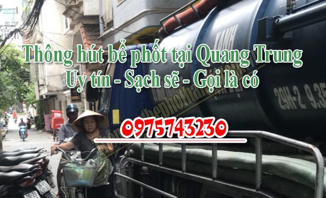 Vì sao bạn nên chọn Dịch vụ thông hút bể phốt tại Quang Trung của chúng tôi