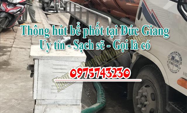 Thông hút bể phốt tại Đức Giang uy tín giá rẻ 0975743230