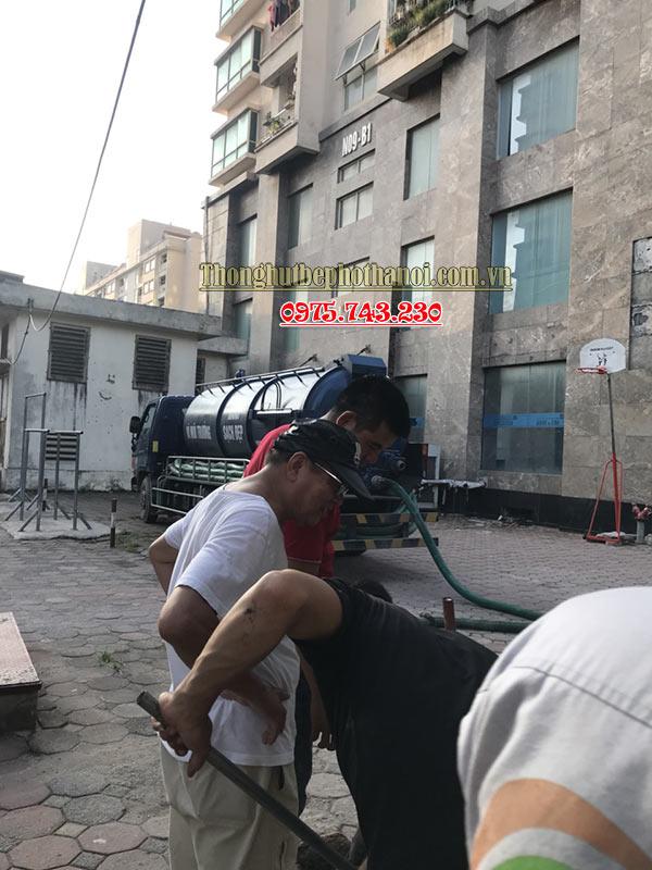 Quy trình hút bể phốt tại phường Thượng Thanh , Long Biên, Hà Nội: