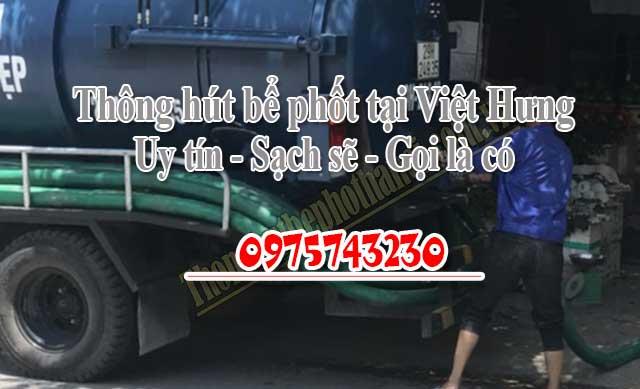 Số điện thoại hút bể phốt tại Việt Hưng: